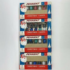 4 Sets Vintage Pennant Outdoor Christmas Lights